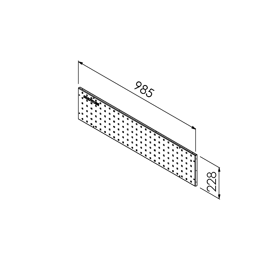 gereedschapsbord 985x228 mm