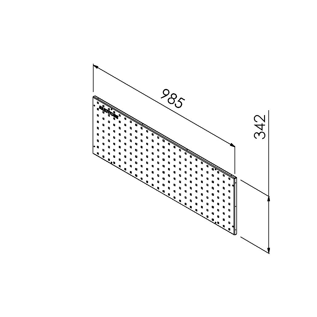 gereedschapsbord 985x342 mm