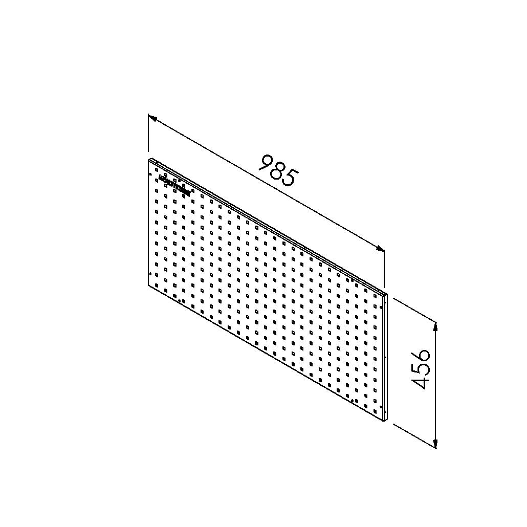 gereedschapsbord 985x456 mm