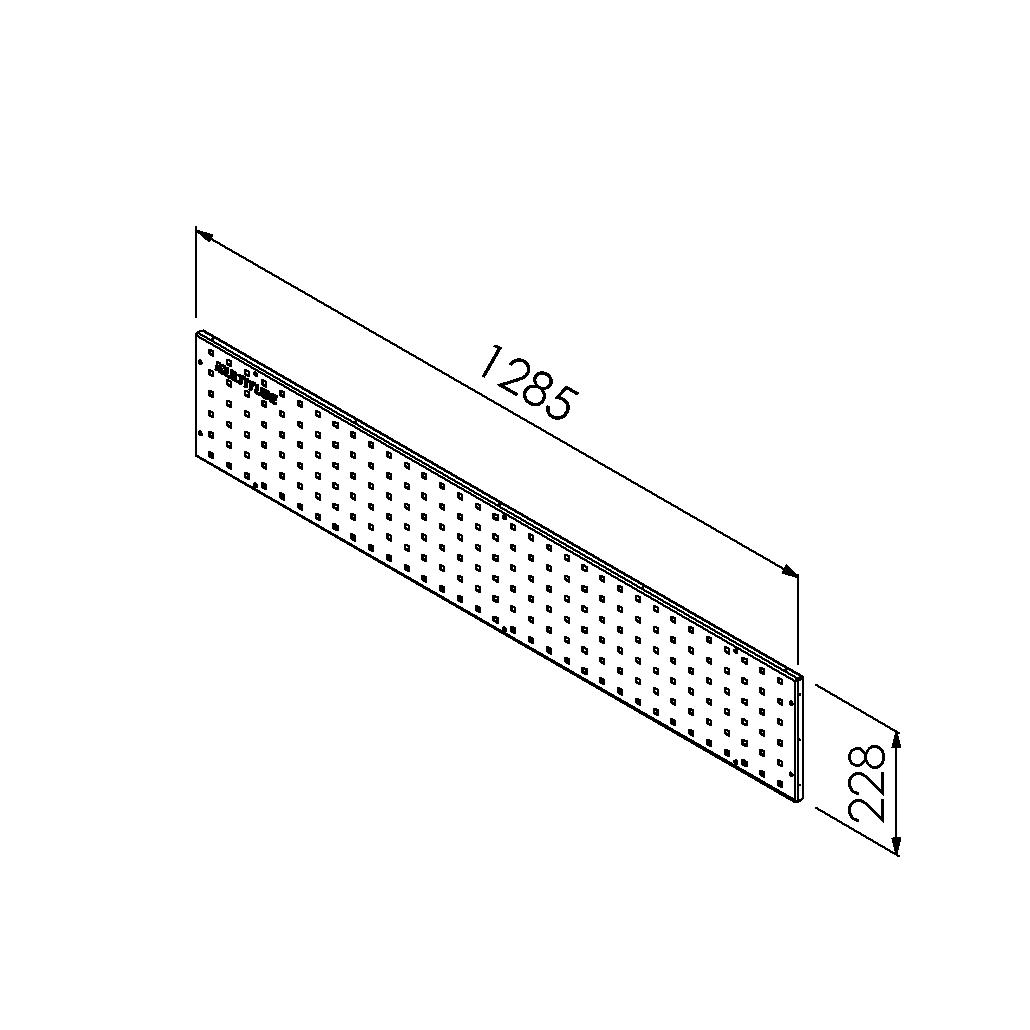 gereedschapsbord 1285x228mm