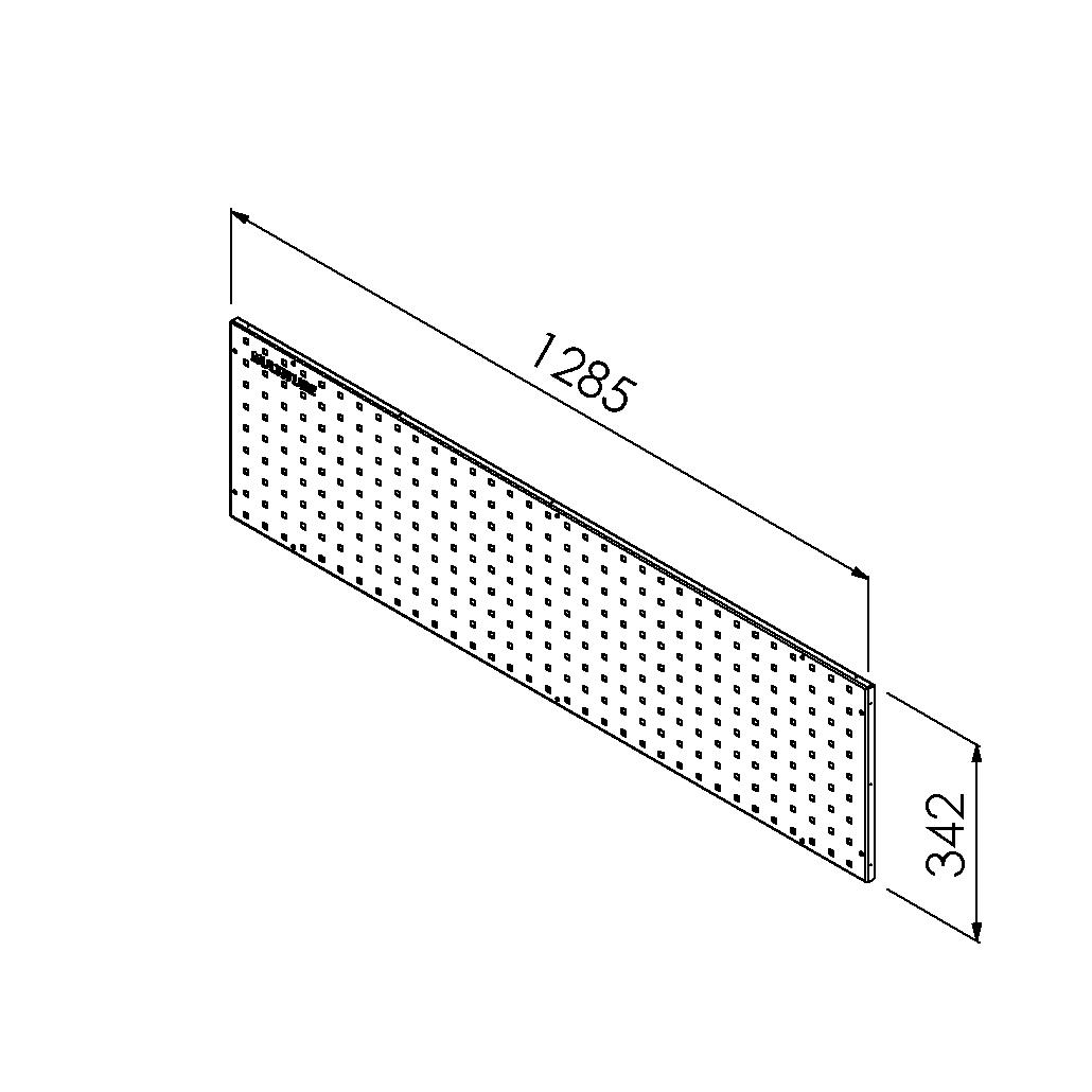 gereedschapsbord 1285x342mm