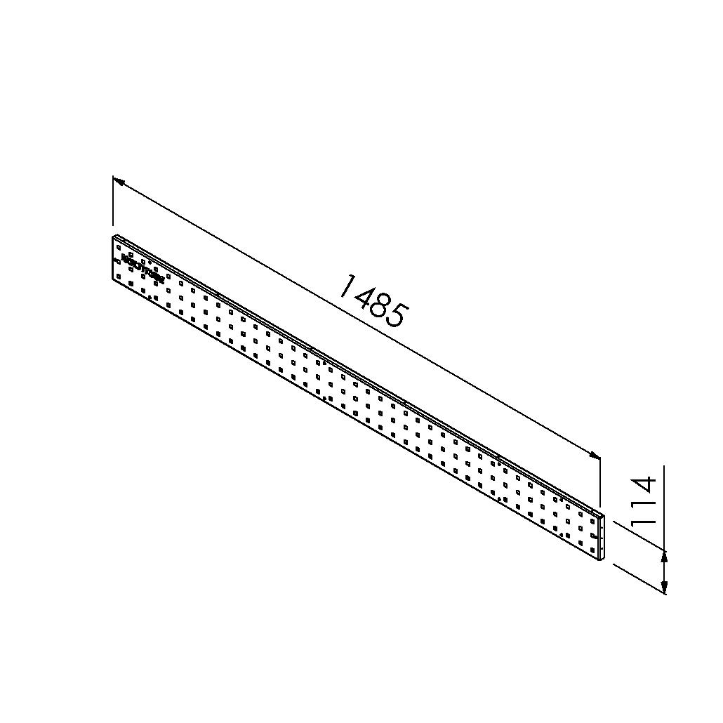 gereedschapsbord 1485x114mm