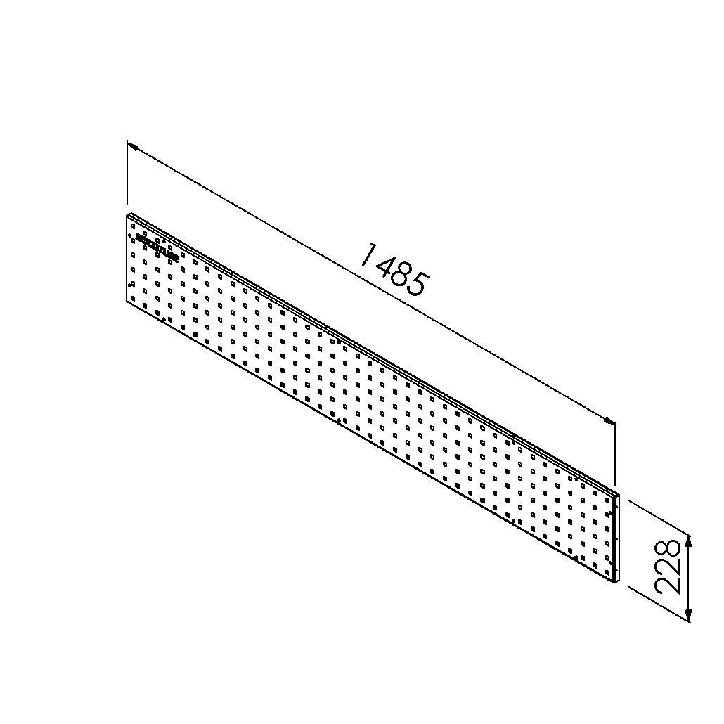 gereedschapsbord 1485x228mm