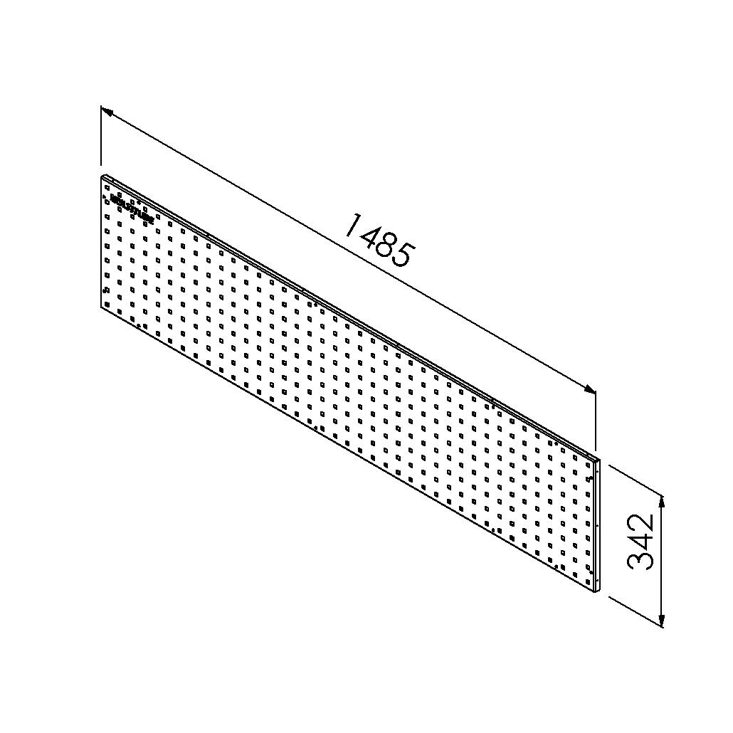 gereedschapsbord 1485x342 mm