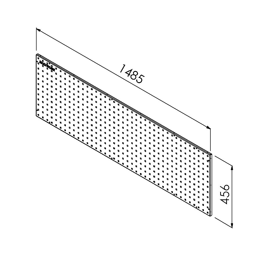 gereedschapsbord 1485x456 mm
