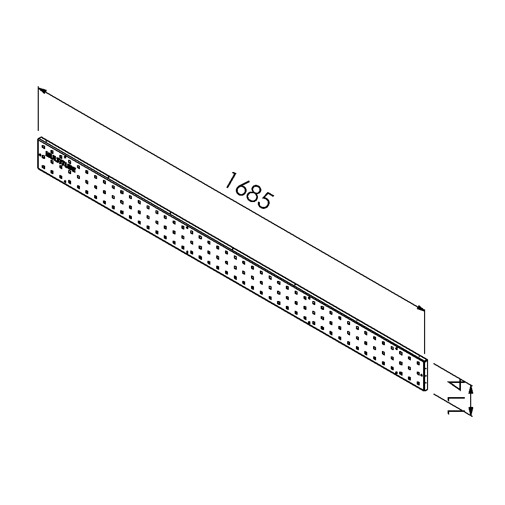gereedschapsbord 1685x114mm