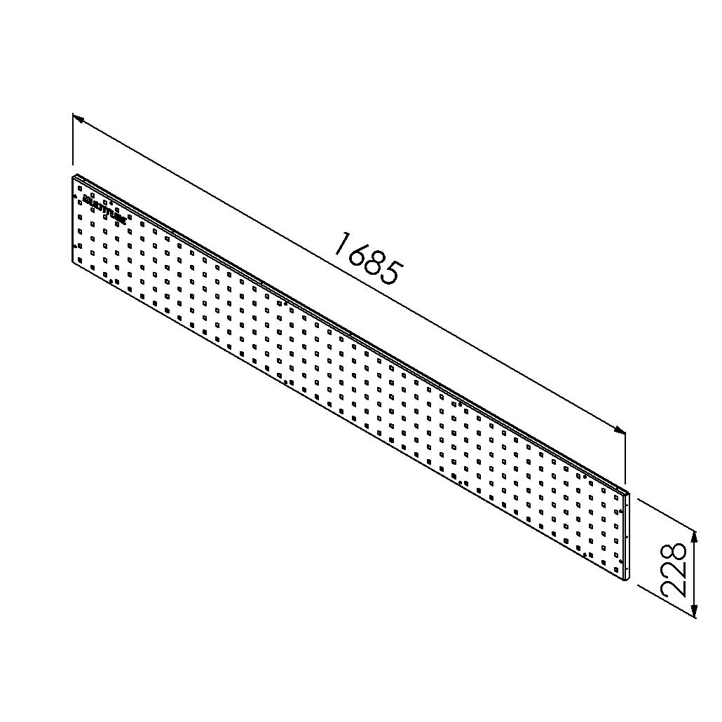 gereedschapsbord 1685x228 mm