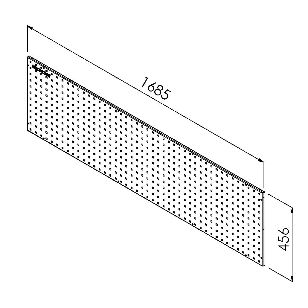 gereedschapsbord 1685x456mm