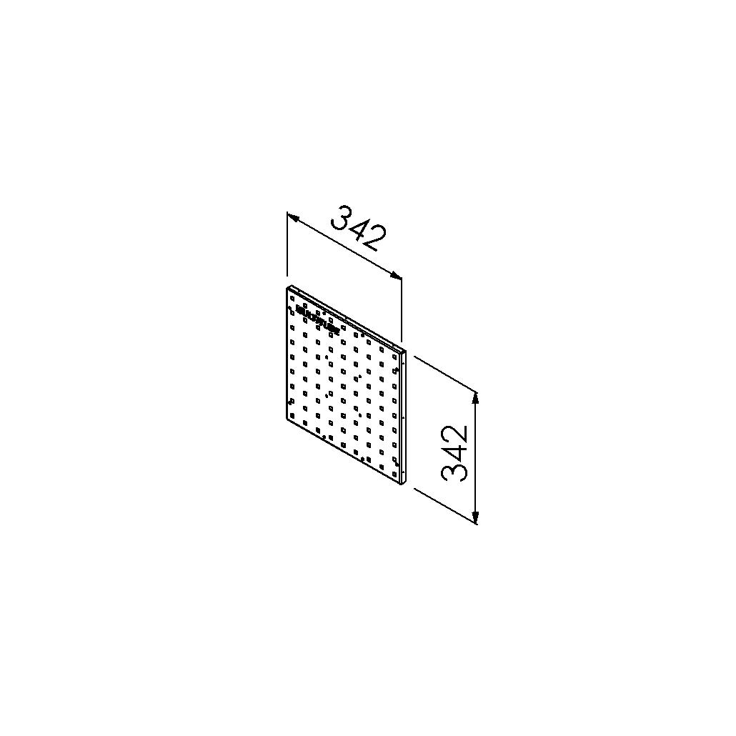 gereedschapsbord vierkant 342x342mm