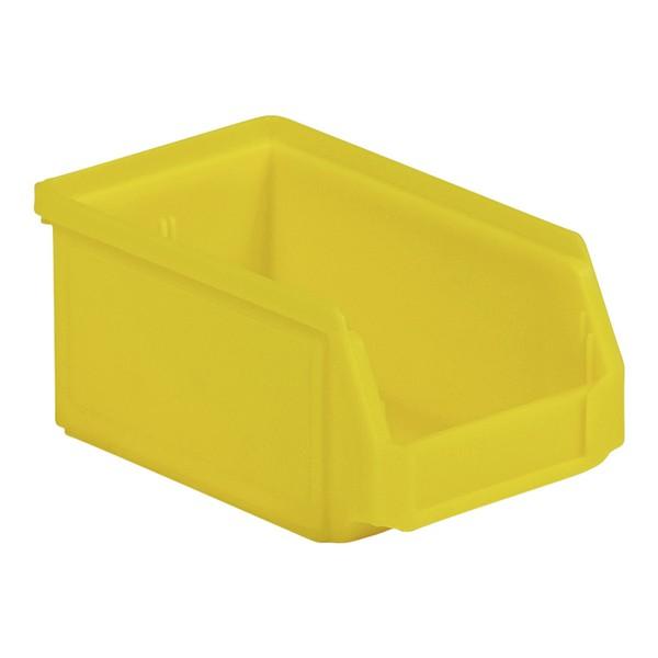 magazijnbakje pp geel 168x103x76mm