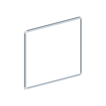 Whiteboard, enkelzijdig gelakt staal, 45x60cm