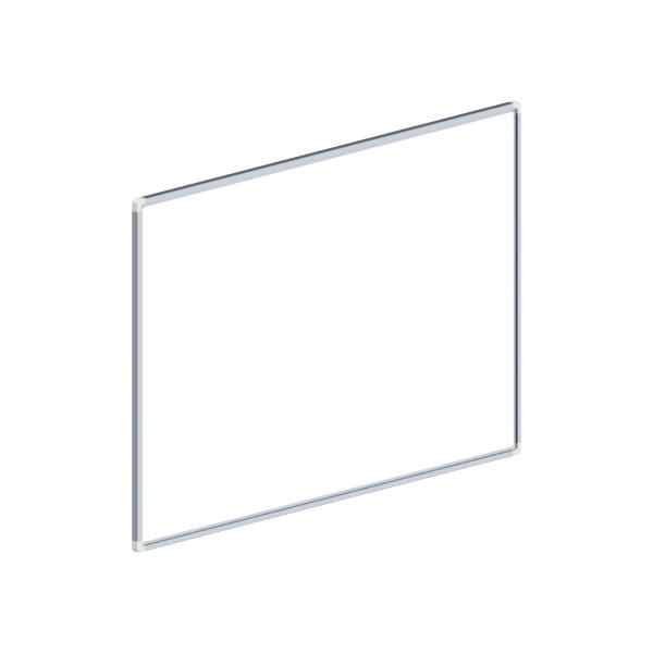 whiteboard enkelzijdig gelakt staal 60x90cm