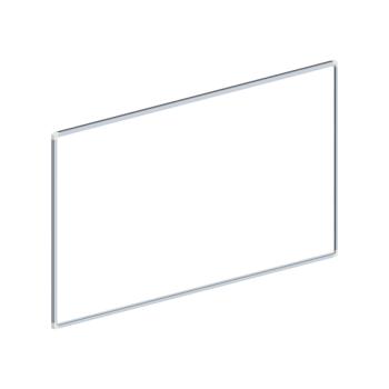 Whiteboard, enkelzijdig gelakt staal, 60x120cm
