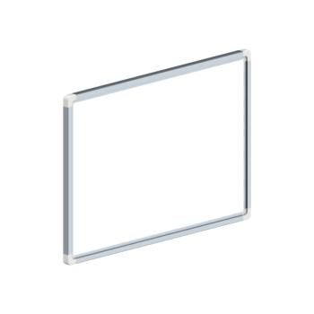 Whiteboard, enkelzijdig emaille staal, 30x45 cm