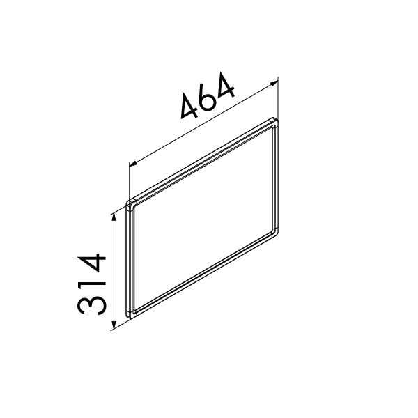 whiteboard enkelzijdig emaille staal 30x45 cm