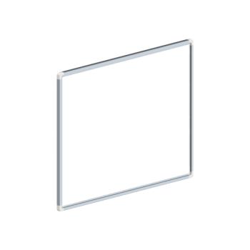 Whiteboard, enkelzijdig emaille staal, 45x60 cm