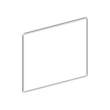 Whiteboard, enkelzijdig emaille staal, 60x90 cm