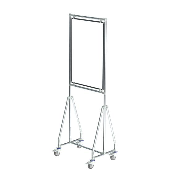 whiteboard enkelzijdig emaille staal 60x90 cm