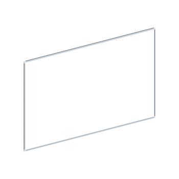Whiteboard, enkelzijdig emaille staal, 90x180 cm