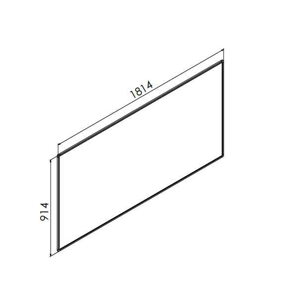 whiteboard enkelzijdig emaille staal 90x180 cm