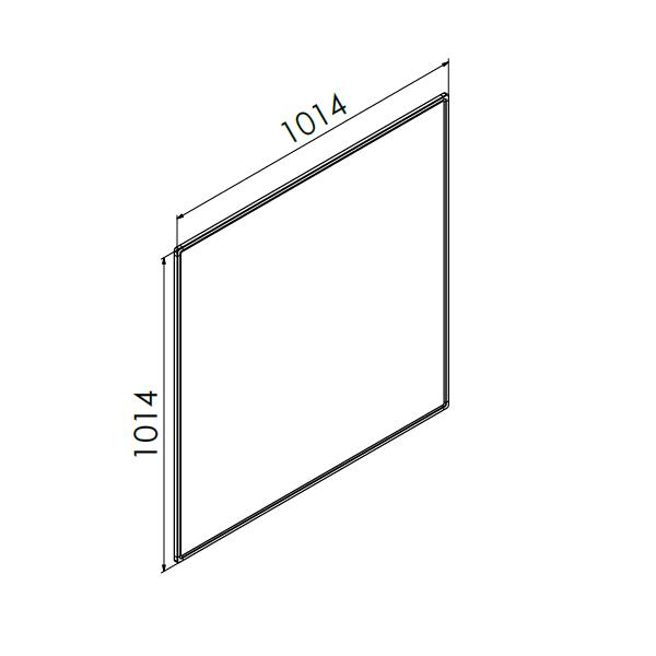 whiteboard enkelzijdig emaille staal 100x100 cm