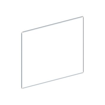 Whiteboard, enkelzijdig emaille staal, 100x150 cm