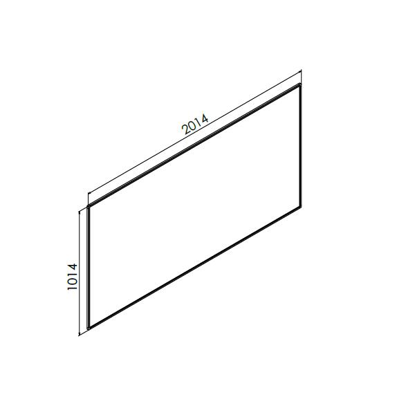 whiteboard enkelzijdig emaille staal 100x200 cm