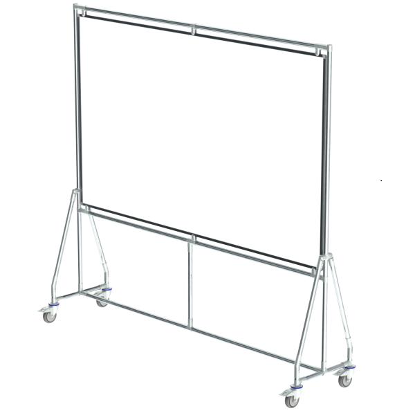 whiteboard enkelzijdig emaille staal 120x200 cm
