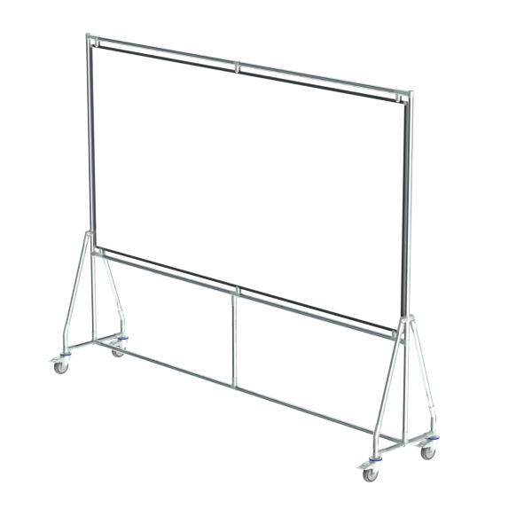 whiteboard enkelzijdig emaille staal 120x240 cm