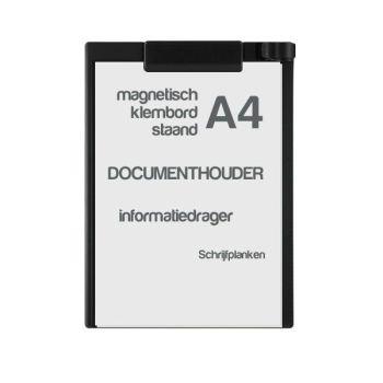 Klembord magnetisch A4, staand, zwart