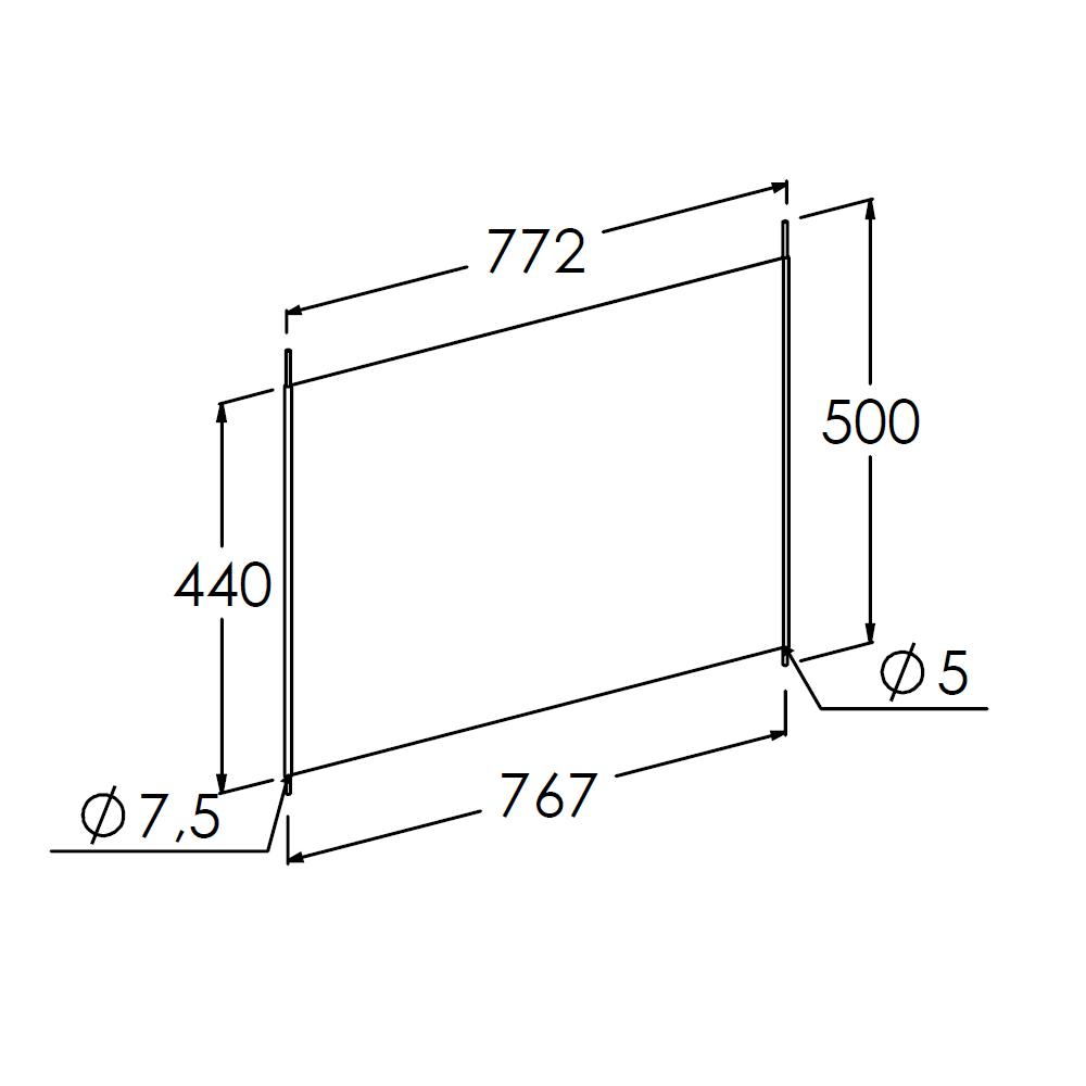 vakverdeler 800x500mm dxh verzinkt
