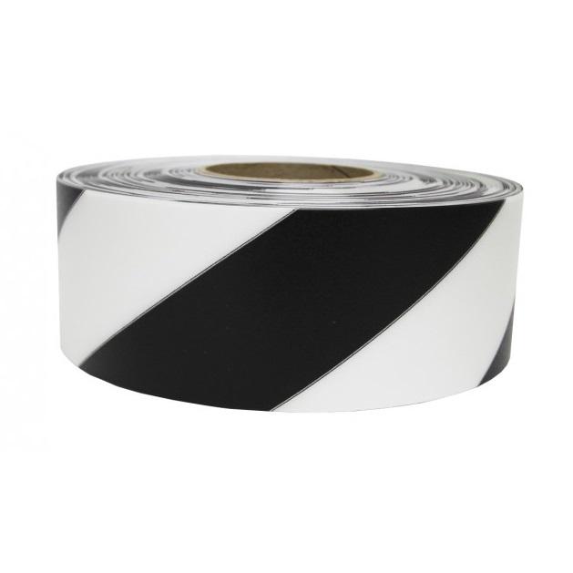vloermarkeringstape zwartwit 30m supreme v hazard striping 5cm breed