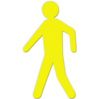 supreme v voetganger geel 297cm x 50cm aantalset5st