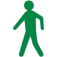 supreme v voetganger groen 297cm x 50cm aantalset5st