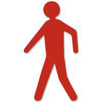 X-treme, voetganger, rood, 18cm x 30,5cm, aantal/set=12st.