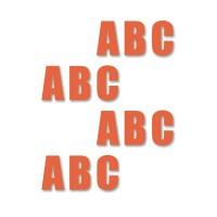 supreme v letters oranje 16cm aantalset40st