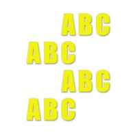 supreme v letters geel 16cm aantalset40st