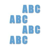 supreme v letters blauw 16cm aantalset40st