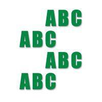 Supreme v, letters, groen, 16cm, aantal/set=50st.