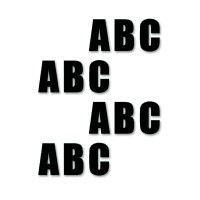 Supreme v, letters, zwart, 16cm, aantal/set=50st.
