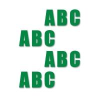 supreme v nummers groen 205cm aantalset25st