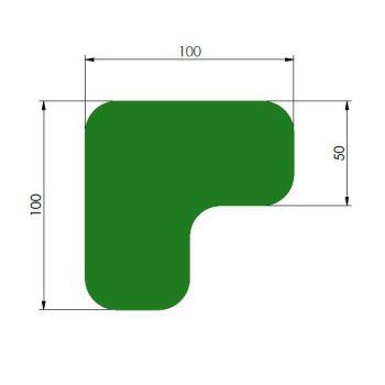 Supreme v, 90° afgeronde hoek, groen, 10cm x 10cm x 5cm, ve=75st.