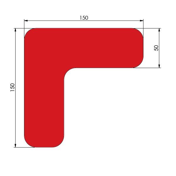 supreme v 90 afgeronde hoek rood 15cm x 15cm x 5cm aantalset50st