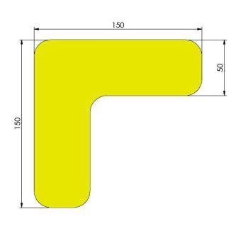 Supreme v, 90° afgeronde hoek, geel, 15cm x 15cm x 5cm, ve=50st.