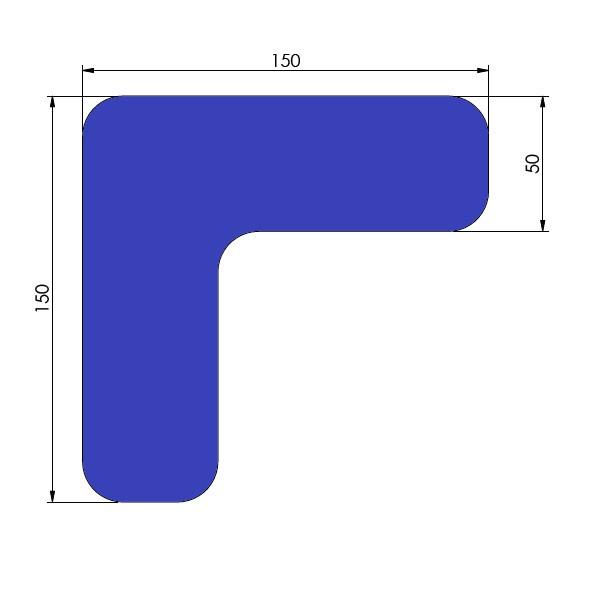 supreme v 90 afgeronde hoek blauw 15cm x 15cm x 5cm aantalset50st
