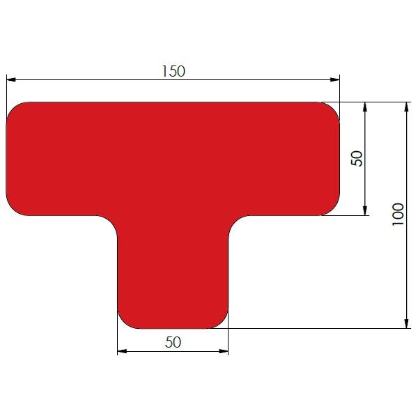 supreme v afgeronde ts rood 10cm x 15cm x 5cm aantalset40st
