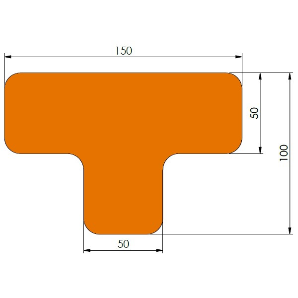 supreme v afgeronde ts oranje 10cm x 15cm x 5cm aantalset40st