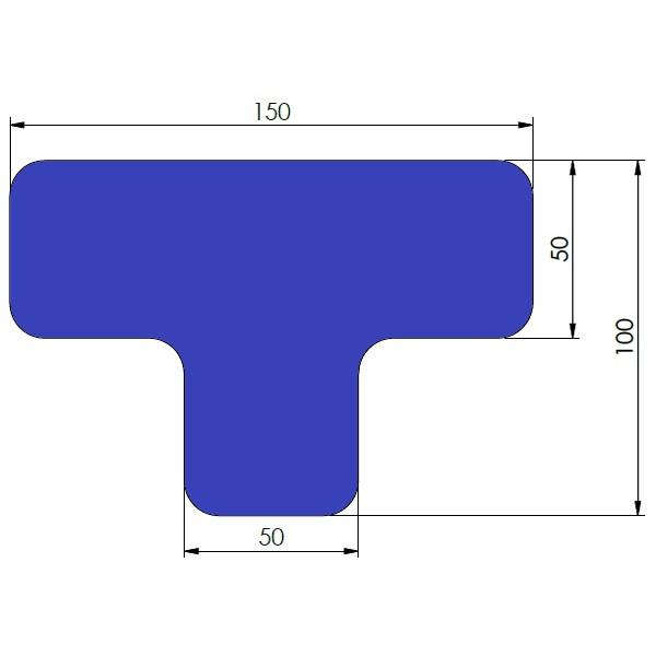 supreme v afgeronde ts blauw 10cm x 15cm x 5cm aantalset40st
