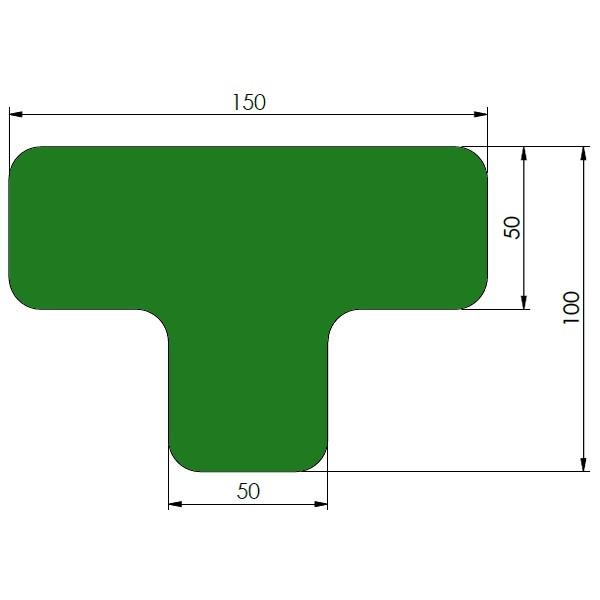 supreme v afgeronde ts groen 10cm x 15cm x 5cm aantalset40st