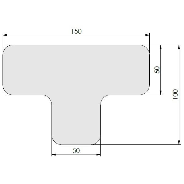 supreme v afgeronde ts wit 10cm x 15cm x 5cm aantalset40st